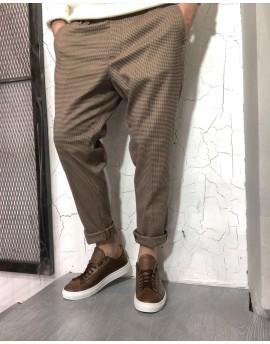Pantalone microfantasia col.moro
